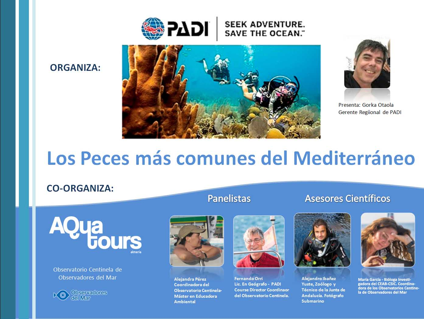 Webinar: LOS PECES MÁS COMUNES DEL MAR MEDITERRÁNEO (gratuito)